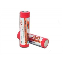 18650 High Drain lithium batteri med knop