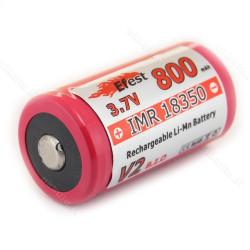 18350 Efest high drain lithium batteri med knop